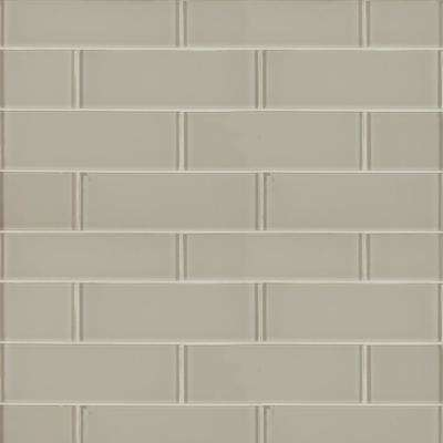 Snow Cap White 3 in. x 9 in. x 8mm Glossy Glass Wall Tile (3.8 sq. ft. / case)