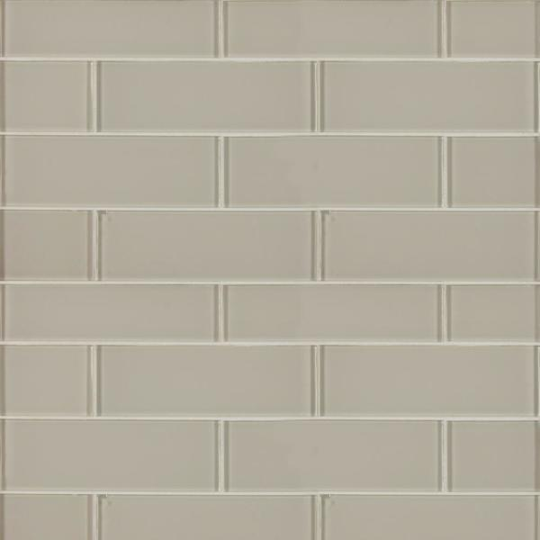 Snow cap 3 in. x 9 in. x 8mm Glossy Glass White Subway Tile (3.8 sq. ft. / case)