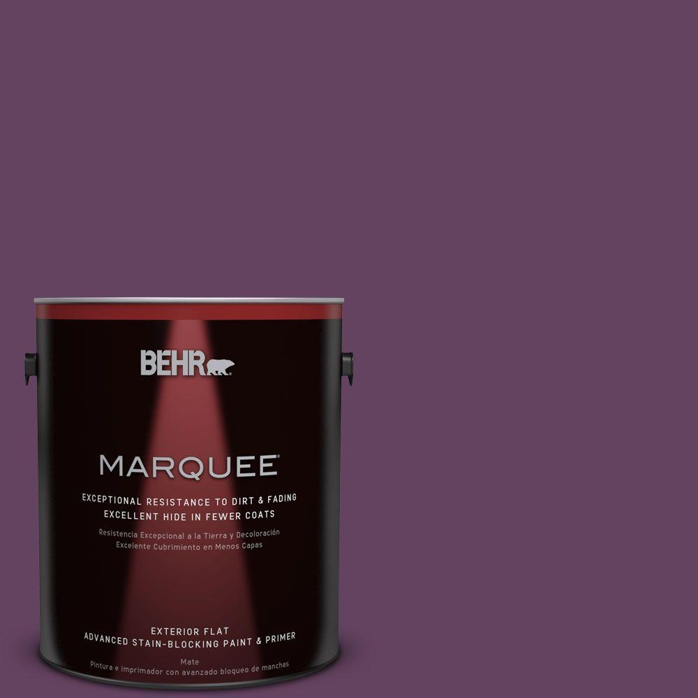 BEHR MARQUEE 1-gal. #BIC-36 Grape Fizz Flat Exterior Paint