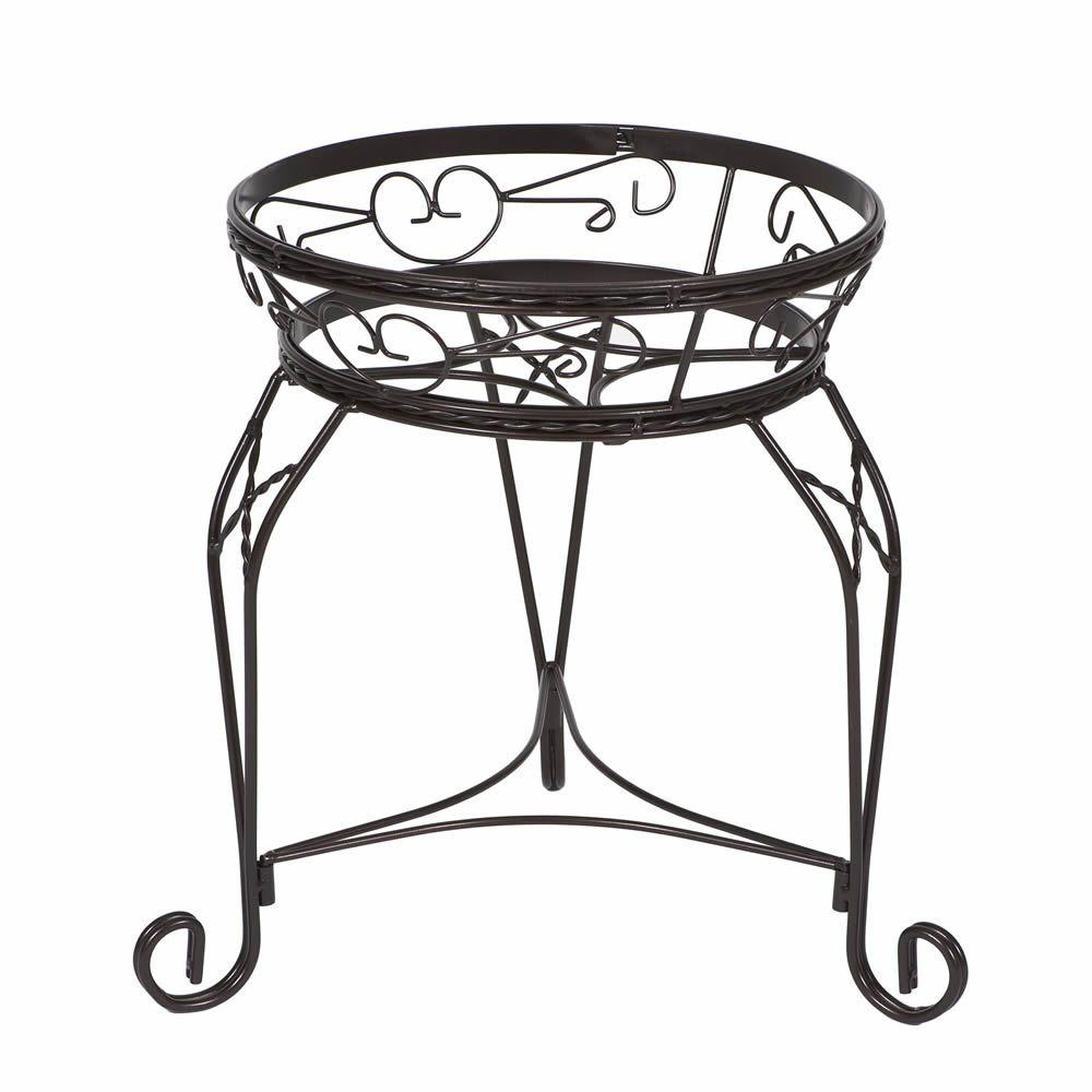 CobraCo 15 in. Scroll Braided Bronze Steel Plant Stand