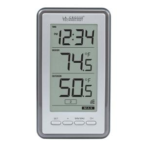 acurite wireless digital weather thermometer 00826hd the home depot rh homedepot com Weather Instruments Thermometer The Weather Channel Wireless Thermometer