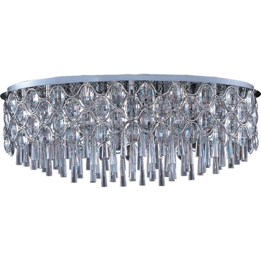 Maxim Lighting Jewel 23 Light Polished Chrome Flush Mount