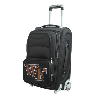 Denco NCAA Wake Forest 21 in. Black Carry-On Rolling Softside Suitcase