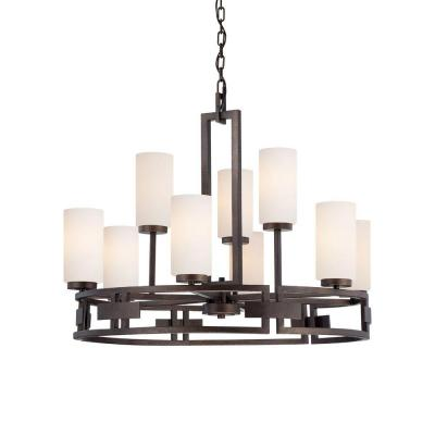 Del Ray 9-Light Flemish Bronze Interior Incandescent Chandelier