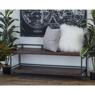 Merveilleux 2 Tier Dark Brown Bench