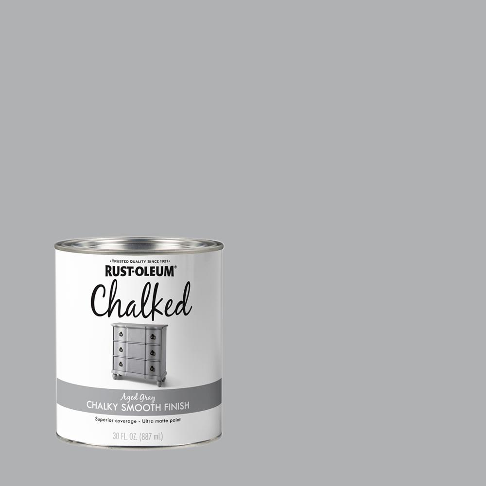 Rust-Oleum 30 oz. Aged Gray Ultra Matte Interior Chalked Paint (2-Pack)