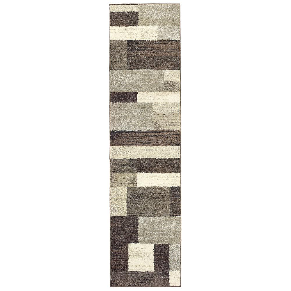Home Decorators Collection Asher Brown 2 Ft X 8 Ft Runner Rug