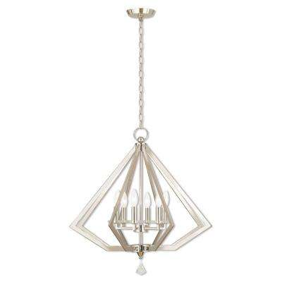 Diamond 6-Light Polished Nickel Chandelier