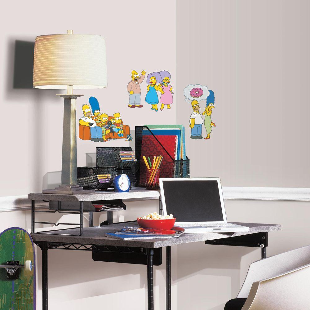 RoomMates 5 in. x 11.5 in. The Simpsons 34-Piece Peel and Stick Wall Decal
