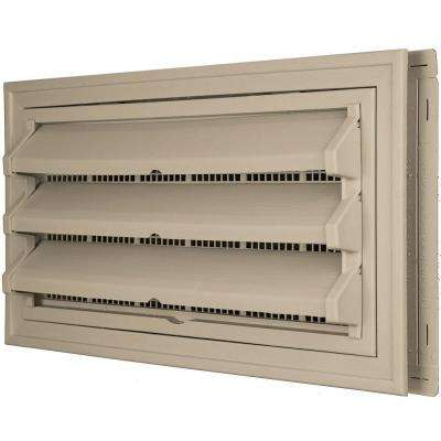 9-3/8 in. x 17-1/2 in. Foundation Vent Kit with Trim Ring and Optional Fixed Louvers (Galvanized Screen) in #085 Clay