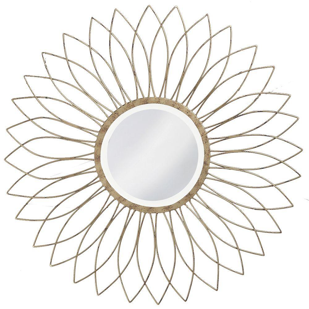 null 40 in. x 40 in. Metal Framed Mirror in Silver