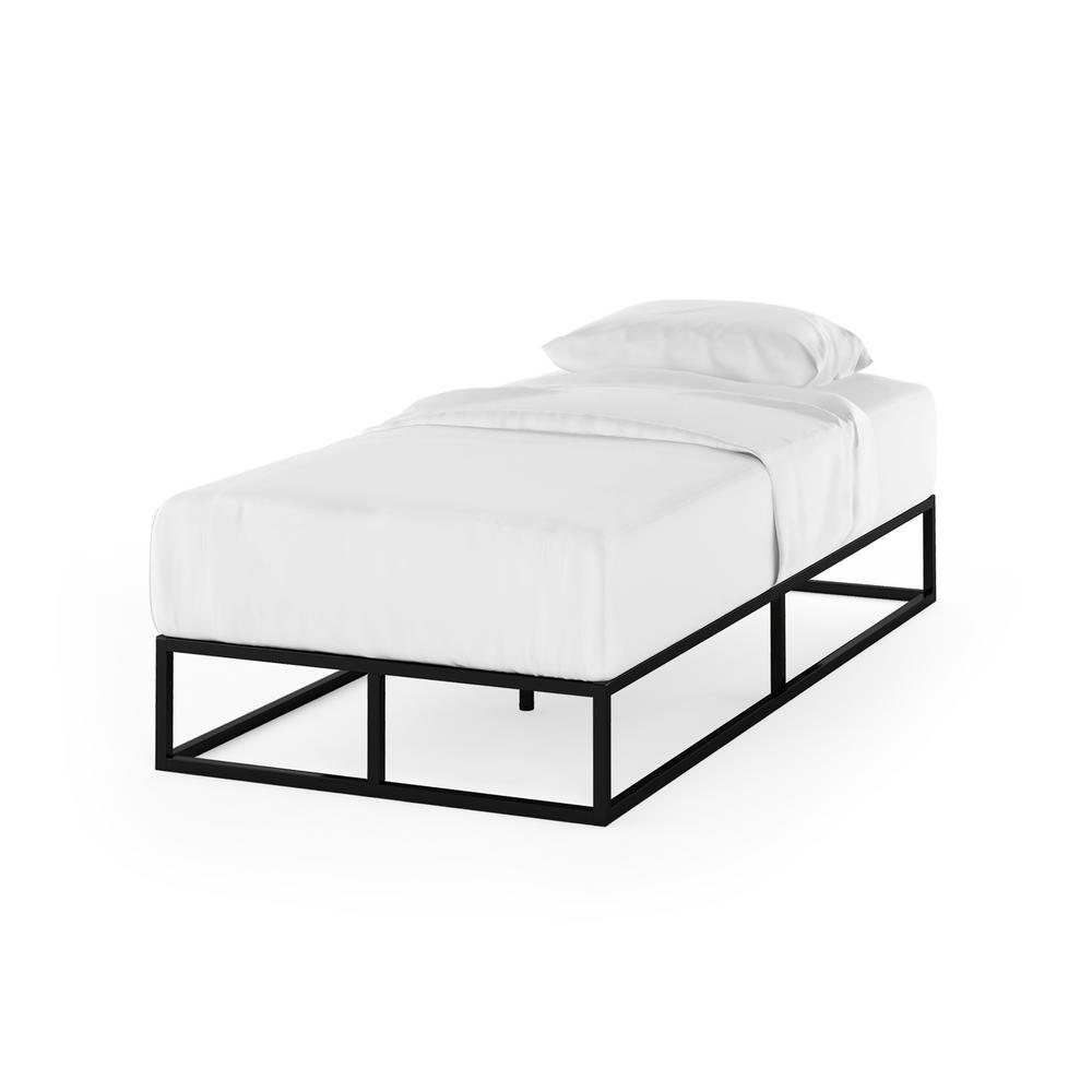 Angeland Monaco Twin Wood Slats Metal Bed Frame Foundation