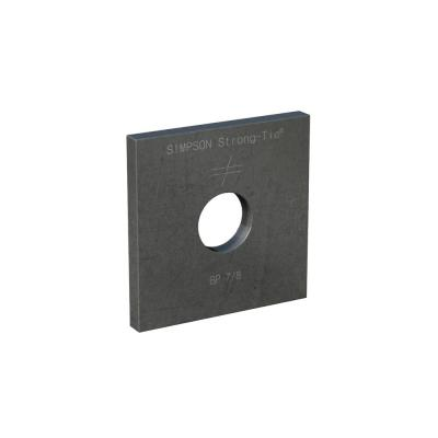 BP 3 in. x 3 in. Bearing Plate with 7/8 in. Bolt Diameter