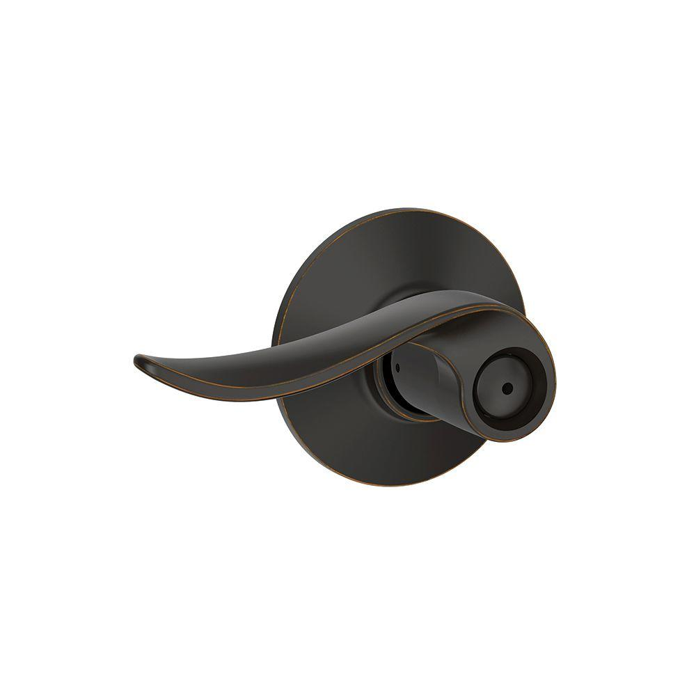 Schlage Sacramento Aged Bronze Privacy Bed Bath Door Lever