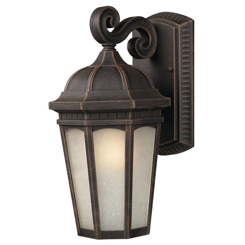 Tulen Lawrence 1-Light Outdoor Antique Bronze Incandescent Wall Light