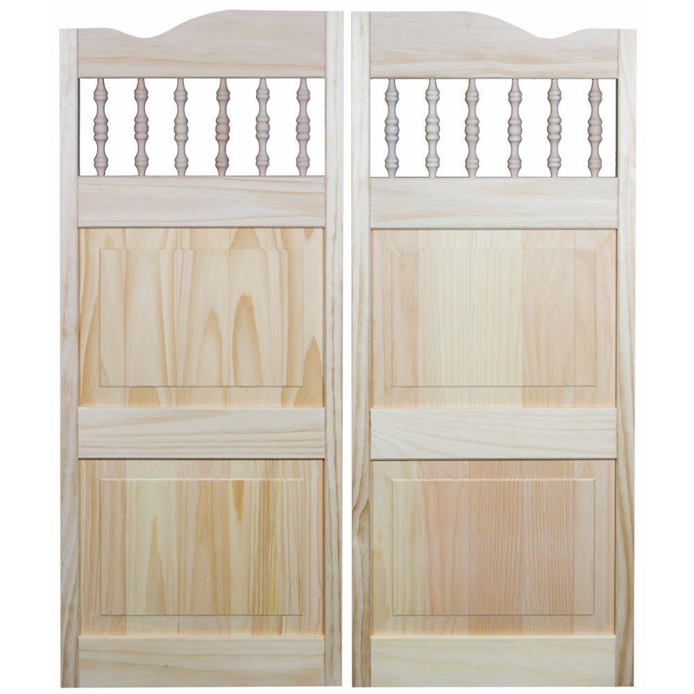 Royal Orleans Spindle-Top Wood Cafe Door