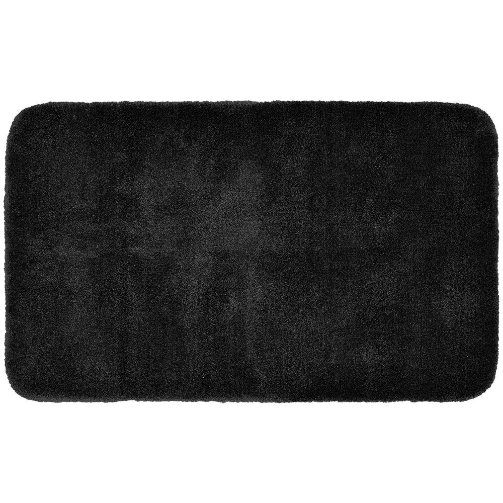 Garland Rug Finest Luxury Black 30 in. x 50 in. Washable Bathroom Accent Rug