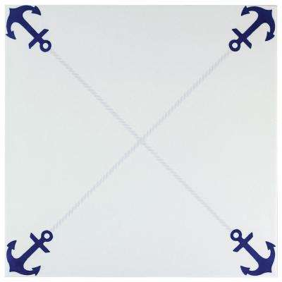 Anclas Azul 12-3/8 in. x 12-3/8 in. Ceramic Floor and Wall Tile (11.07 sq. ft. / case)
