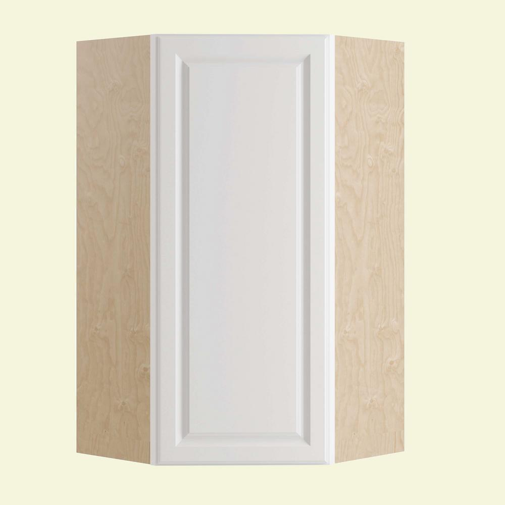Home Decorators Collection Hallmark Assembled 24x42x24 in. Wall Angle Corner Kitchen Cabinet Left Hand in Arctic White