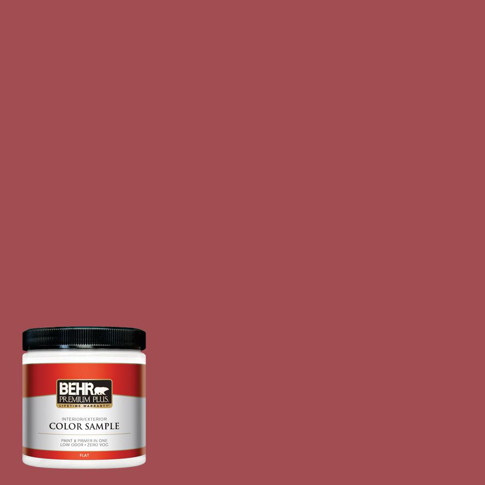 8 oz. #PPU1-07 Powder Room Flat Interior/Exterior Paint Sample