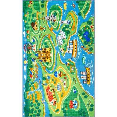Odil Harbor Town Green 3 ft. 3 in. x 5 ft. Area Rug