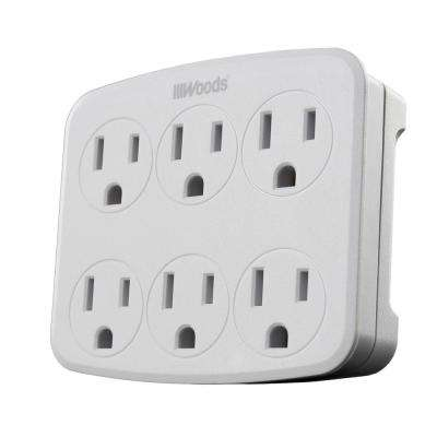 6-Outlet Wall Tap with Phone Cradle