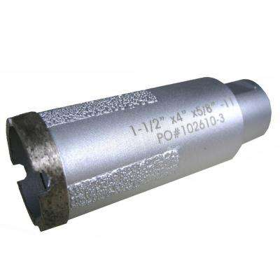 1-1/2 in. Wet Diamond Core Bit with Side Strips for Granite Drilling