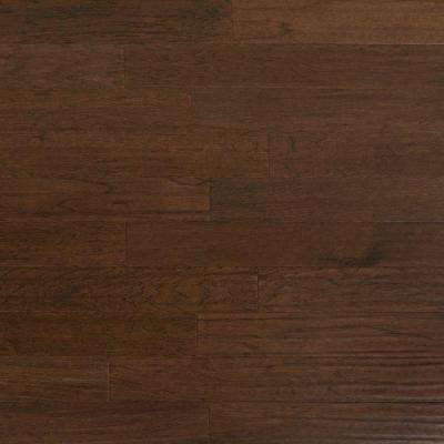 Take Home Sample - Scraped Hickory Ember Engineered Click Hardwood Flooring - 5 in. x 7 in.
