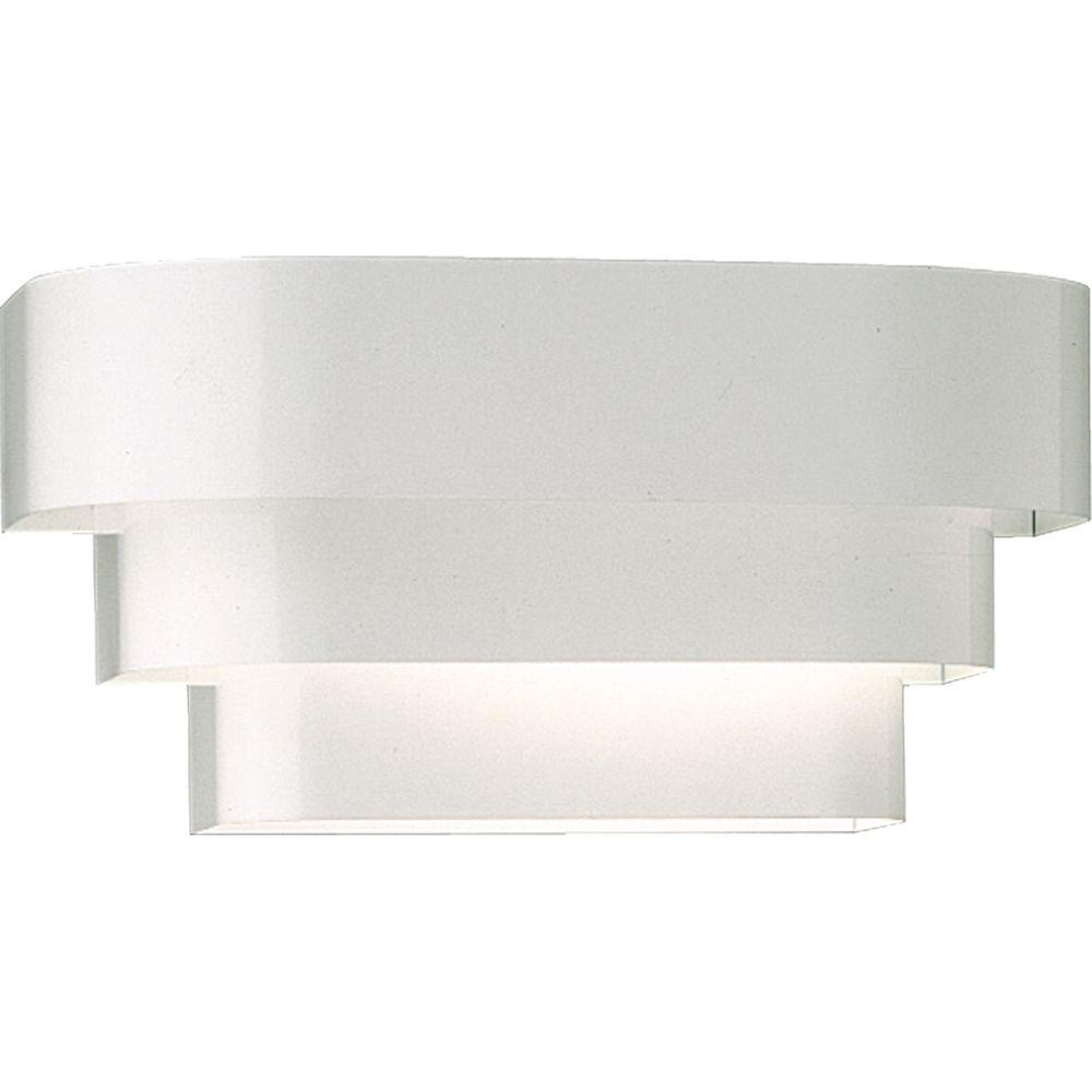 Progress Lighting 1 Light White Wall Sconce With Metal Shade