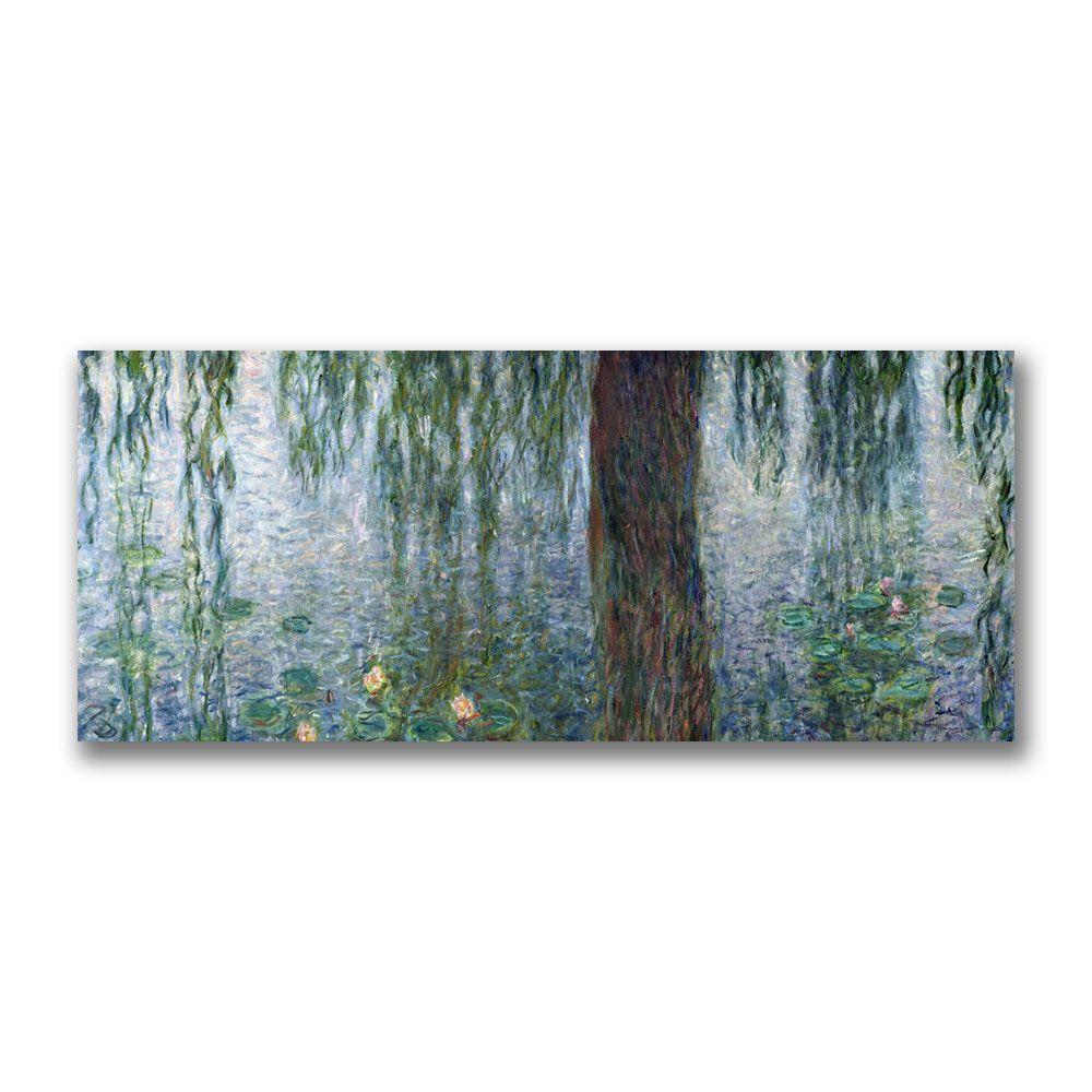 Trademark Fine Art 20 in. x 47 in. Water Lilies Morning Canvas Art