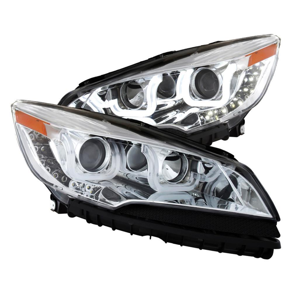 2017 Ford Escape Projector Headlights W U Bar Chrome