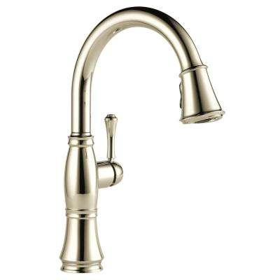 Cassidy Single-Handle Pull-Down Sprayer Kitchen Faucet in Polished Nickel