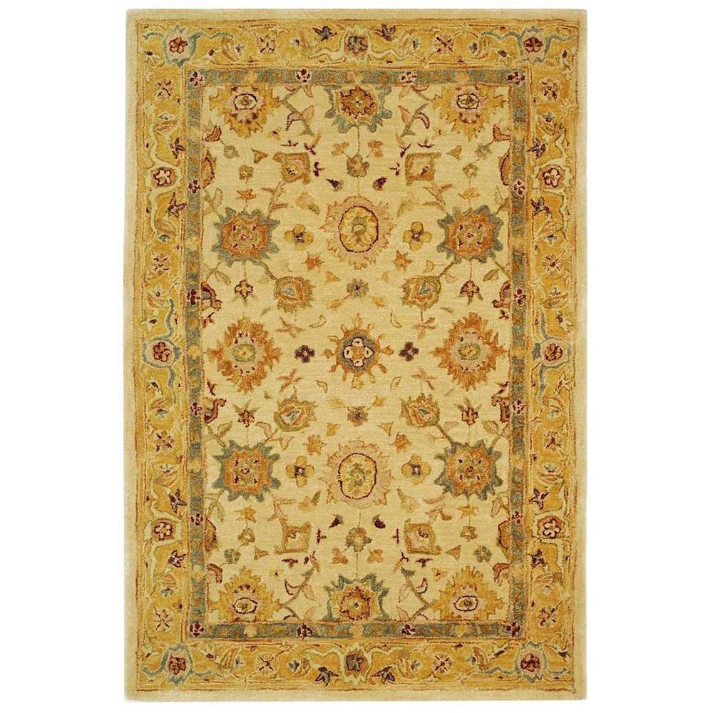 Safavieh Anatolia Ivory/Gold 4 ft. x 6 ft. Area Rug