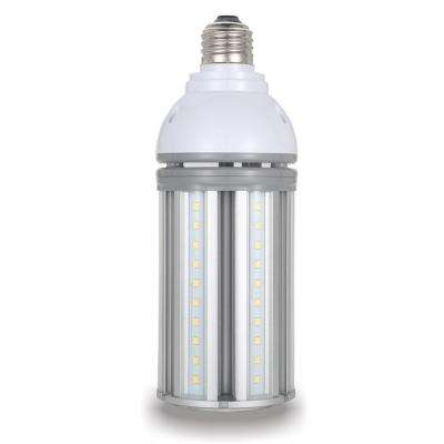 100-Watt Equivalent 22-Watt Corn Cob ED28 HID LED Post Top Bypass Light Bulb Med 120-277-Volt Cool White 4000K