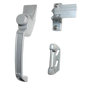 Silver Aluminum Screen Door Handle Set Latches 327 The