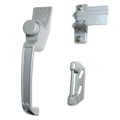 Silver Aluminum Screen Door Handle Set Latches