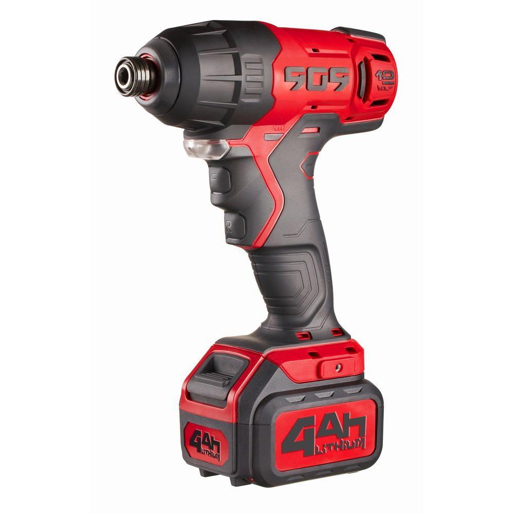 909 12-Volt 4 Ah Touch Pro Impact Driver
