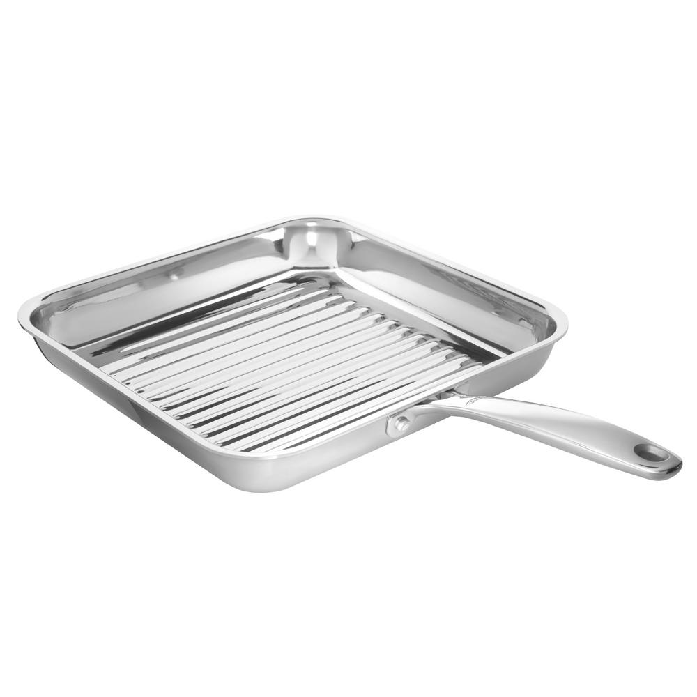 Good Grips Stainless Steel Pro 11 in. Grill Pan