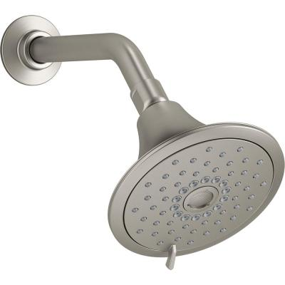 Forte 3-Spray 5.5 in. Single Wall Mount Fixed Shower Head in Vibrant Brushed Nickel