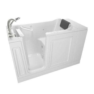 Acrylic Luxury 48 in. x 28 in. Left Hand Walk-In Whirlpool and Air Bathtub in White