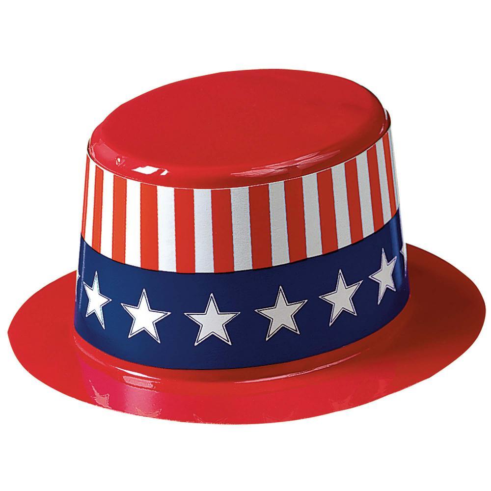 2.5 in. x 4.5 in. Mini Patriotic Top Hats (24-Count)