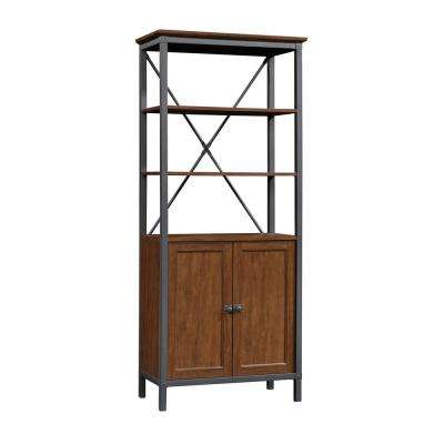 Carson Forge Milled Cherry 5-Shelf Bookcase with Doors