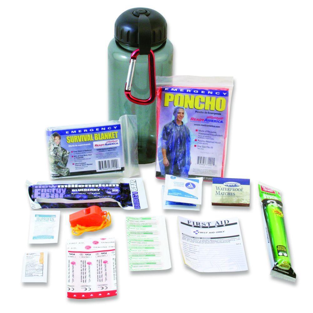 Ready America Water Bottle Survival Kit, Basic