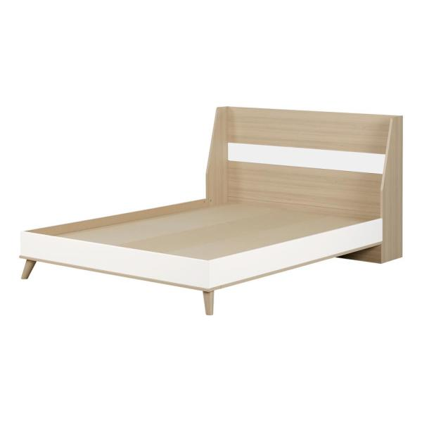 Yodi Soft Elm and Pure White Full Bed