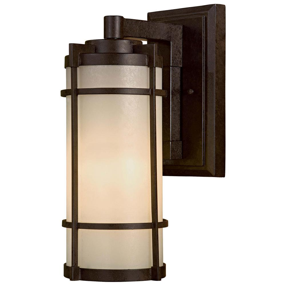 Andrita Court 1-Light Textured French Bronze Outdoor Wall Mount Lantern