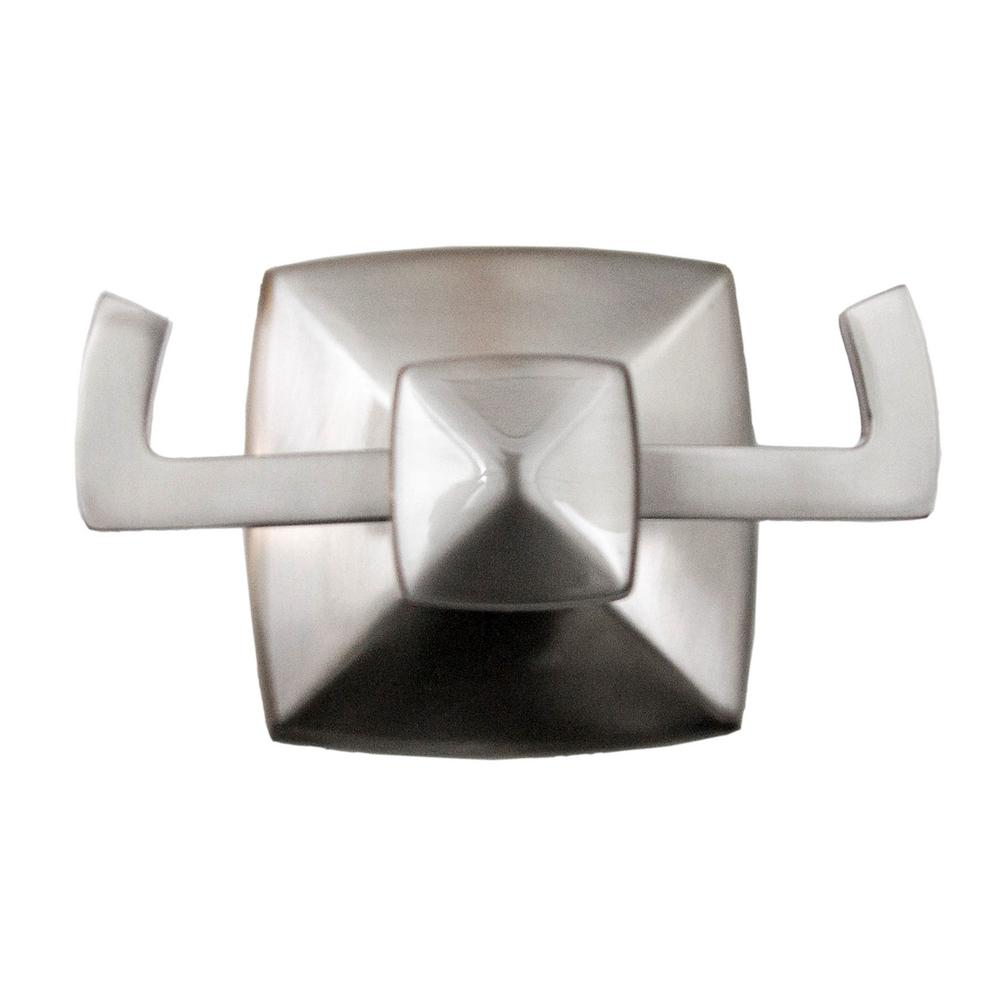 Perth Double Robe Hook in Satin Nickel
