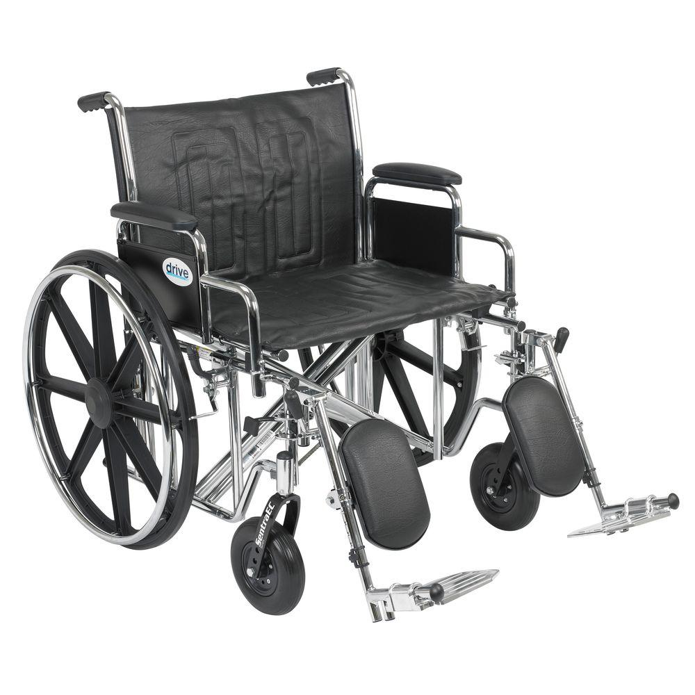 Sentra EC Heavy Duty Wheelchair with Desk Arms, Elevating Leg Rests
