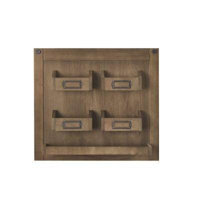 Generic Unbranded Soren 18 in. H x 20 in. W Wall Charger Panel in Rustic Pine
