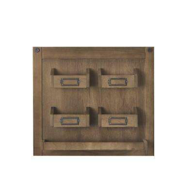 Soren 18 in. H x 20 in. W Wall Charger Panel in Rustic Pine