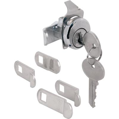3/4 in. Outside Diameter, Brushed Nickel, 5-Cam Counter Clockwise with Dust Cover Mailbox Lock